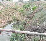 Medio limpian dren entre colonias Olmo y Arboledas
