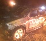 Se quema camioneta