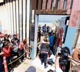 Narco se casa en valla fronteriza