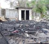 Fuegos artificiales arrasan con casa