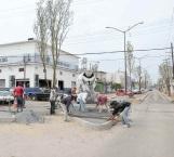 Casi lista remodelación de la calle  del 'Taco'