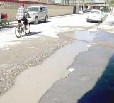 Reportan la fuga de aguas negras