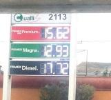 Sigue  subiendo  el precio  de gasolina