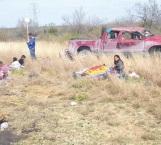 Brutal volcadura 1 muerto; 7 heridos