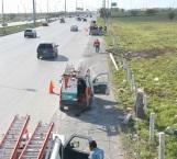 Reparan daños ocurridos en fatal accidente vial