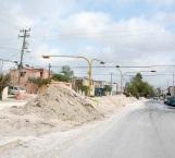 Continúan trabajos en colector de la colonia Aztlán