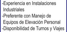 SOLICITO: *TECNICOS ELECTRICISTAS