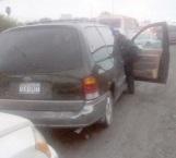 Carambola por imprudencia al conducir