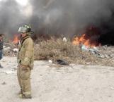 Voraz incendio en basurero municipal