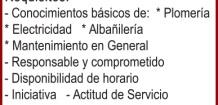 LOGO)SOLICITA: *MANTENEDOR DE