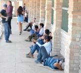 48 Centroamericanos varados en el Puente Internacional Hidalgo