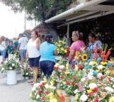 Incrementan ventas de  flores en el Día del Padre en el Mercado de la Flor