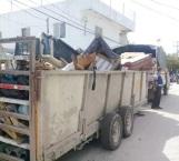 Inician recolección de basura arrastrada por intensas lluvias