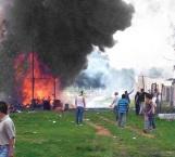 Explosión en Tultepec; 2 muertos y seis heridos