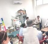 Revisa daños por lluvias en el Centro de Salud