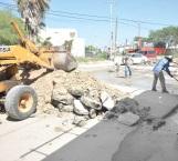 Rehabilitan circuito vial entre bulevar Hidalgo y Ribereña