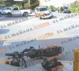 Se impacta moticicleta contra auto, en Reynosa