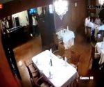 Difunden video de asalto a restaurante Mediterrane