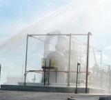 Con éxito concluye simulacro de incendio en Petróleos Mexicanos