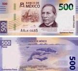 Ponen a Benito Juárez en nuevo billete de $500