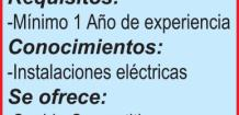 SOLICITO: *OFICIAL ELECTRICISTA