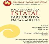 Expondrán realidad del sector educativo en Foro de Consulta Participativa