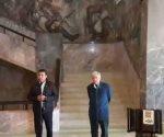 Rueda de prensa con el presidente electo Andrés Manuel López Obrador y el gobernador Francisco Cabeza De Vaca