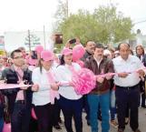 Realizan caminata en color de rosa…