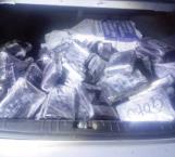 Incautan 90 kilos de 'coca' y dinero
