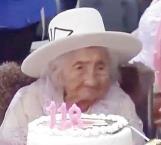 Mujer boliviana de 118 años celebra su cumpleaños