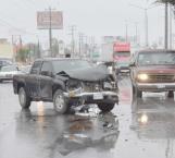 Lesionados en choque carretero