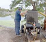 Extraen agua de calichera para prevenir desborde al estar anegada