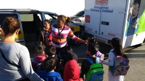 Choca transporte escolar en Altamira