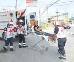 Mujer atropellada por rauda camioneta al subir banqueta
