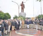 Reducido homenaje de la Expropiación Petrolera en Reynosa