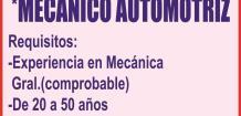 (LOGO)SOLICITA: *MECANICO AUTOMOTRIZ,
