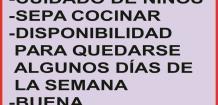SOLICITO: *SEñORA -PARA