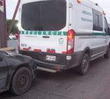 Choca contra única ambulancia del IMSS Río Bravo