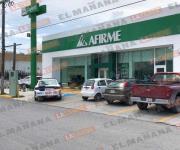 Asaltan a clientes y a empleados de Banco Afirme
