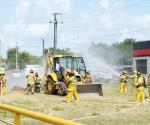 Realizan simulacro de fuga de gas natural en la Narciso Mendoza y La Cañada