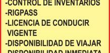 EMPRESA PETROLERA, SOLICITA: