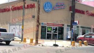 Asalta farmacia con arma de fuego en la colonia Rodríguez