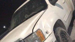 Aseguran camioneta  blindada