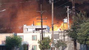Se incendia bodega de aceites en San Nicolás