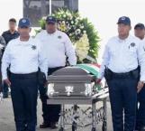 Despiden con honores a policía caído en emboscada en NL