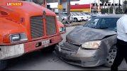 Accidente deja a menor lesionada