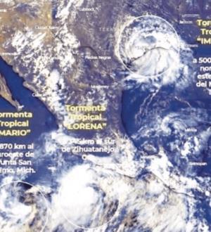 Lluvias de Lorena y Mario a 9 estados