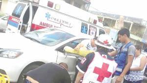 Mandan a conductora al hospital