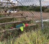Muere indigente en campos de futbol de la Ribereña