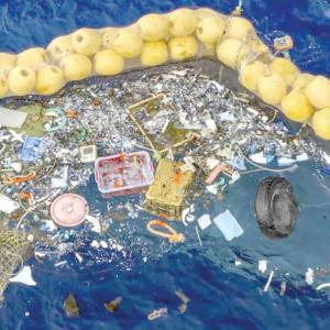 Nuevo dispositivo de limpieza del océano